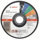BOSCH 2608602383-Doorslijpschijf recht Multi Construction 125 mm, 22,23 mm, 1,6 mm-klium