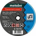 METABO 616100000-METABO FLEXIAMANT SUPER 115X2,0X22,23 STAAL, DOORSLIJPSCHIJF, GEBOGEN UITVOERING-klium