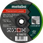 METABO 616731000-METABO FLEXIAMANT SUPER 125X6,0X22,23 STEEN, AFBRAAMSCHIJF, GEBOGEN UITVOERING-klium