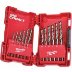 MILWAUKEE 4932352470-Milwaukee set hss-g co metaalboren in metalen cassette (19-delig)-klium