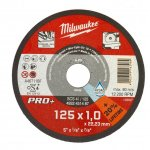 MILWAUKEE 4932451487-Milwaukee metaaldoorslijpschijf scs41 125 x 1 mm pro+ (50 st.)-klium
