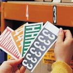 BRADY 034331-Identieke nummers en/of letters op kaart voor binnengebruik-klium