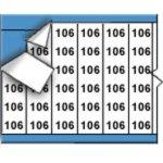 BRADY 010106-Draadmerkernummers op kaart-klium