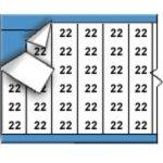 BRADY 010022-Draadmerkernummers op kaart-klium