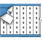 BRADY 010009-Draadmerkernummers op kaart-klium