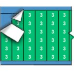 BRADY 011603-Draadmerkernummers op kaart - Wit op groen-klium