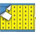 BRADY 011300-Draadmerkernummers op kaart - Zwart op geel-klium