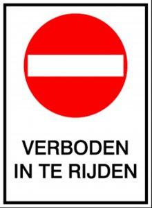 BRADY 808248-VERBODEN IN TE RIJDEN (PIC 229 N)-klium