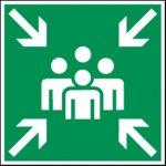 BRADY 223637-Vloerpictogram - Verzamelplaats bij calamiteit (PIC 377)-klium