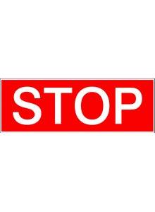 BRADY 250975-VERBODSPICTOGRAM - STOP (STN 421)-klium