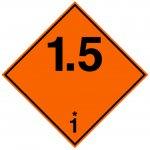 BRADY 223595-Vervoerspictogram - Ontplofbaar (ADR 1.5) (op rol)-klium