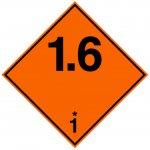 BRADY 223558-Vervoerspictogram - Ontplofbaar (ADR 1.6)-klium