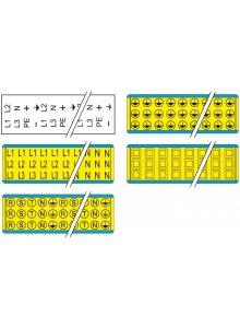 BRADY 101386-WAARSCHUWINGSPICTOGRAM - FASE-, AARDING- EN ISOLATIE-AANDUIDINGEN (L1, L2, L3, PE, +, -)-klium