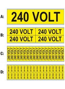 BRADY 251977-WAARSCHUWINGSPICTOGRAM - VOLTAGEMERKERS - 3 X 400/230 V-50 HZ-klium
