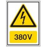 BRADY 251613-Waarschuwingspictogram - Voltagepictogrammen - 380 V-klium