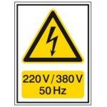 BRADY 251620-Waarschuwingspictogram - Voltagepictogrammen - 220 V / 380 V - 50 Hz-klium