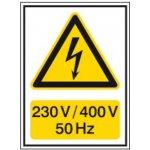 BRADY 251621-Waarschuwingspictogram - Voltagepictogrammen - 230 V / 400 V - 50 Hz-klium
