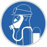 BRADY 222844-Gebodspictogram - Zware ademhalingsbescherming met speciale bril tegen zuren verplicht (PIC 622)-klium