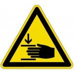BRADY 250307-Pictogram voor Machineveiligheid - Opgelet voor verwondingen aan de hand (PIC 337)-klium