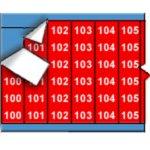 BRADY 012253-Opeenvolgende draadmerkernummers op kaart - wit op rood-klium