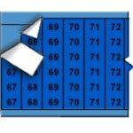 BRADY 012267-Opeenvolgende draadmerkernummers op kaart - zwart op blauw-klium