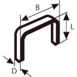 BOSCH 2609200208-Niet met platte draad type 52 12,3 x 1,25 x 14 mm-klium